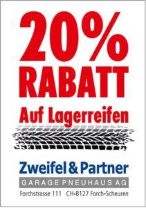 20% Rabatt auf Lagersortiment